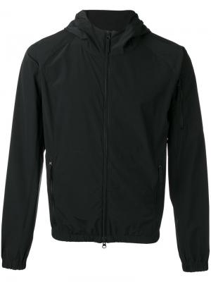 Куртка с капюшоном на молнии Aspesi. Цвет: черный