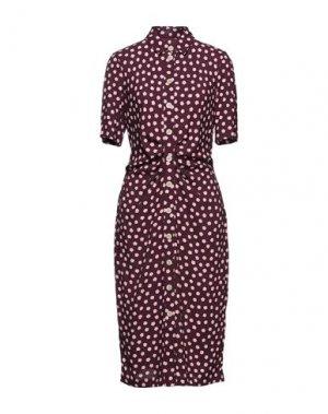 Платье миди KATE SPADE New York. Цвет: красно-коричневый