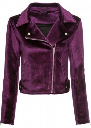 Куртка байкерская bonprix. Цвет: лиловый