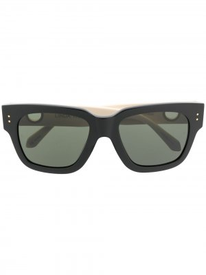 Солнцезащитные очки в квадратной оправе Linda Farrow. Цвет: черный