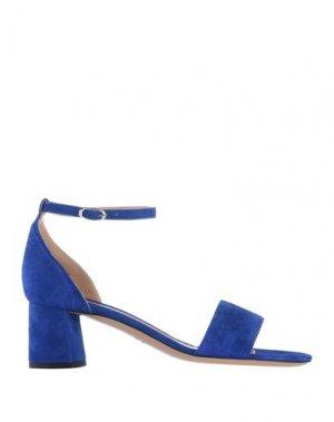 Сандалии DEIMILLE. Цвет: ярко-синий