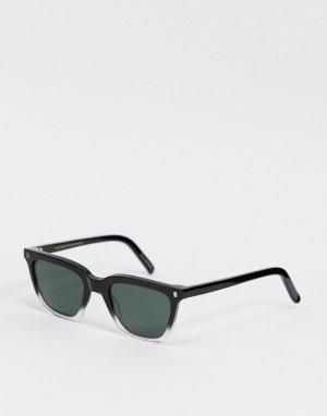 Квадратные солнцезащитные очки унисекс в оправе с градиентом от черного до прозрачного цвета Robotnik ECO-Черный Monokel Eyewear