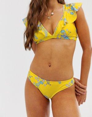 Плавки бикини с цветочным принтом -Желтый Sam Edelman