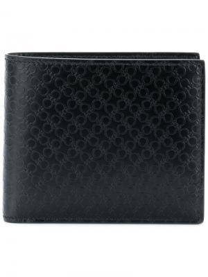 Классический бумажник Salvatore Ferragamo. Цвет: чёрный
