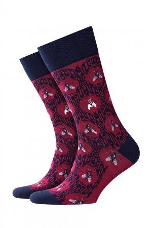 Бордовые хлопковые носки Fly Baroque Burlington. Цвет: бордовый