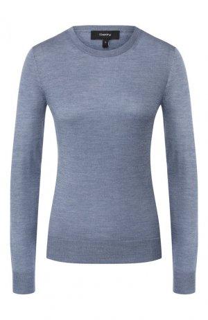 Пуловер из смеси шелка и кашемира Theory. Цвет: синий