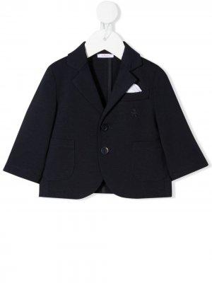 Однобортный пиджак строгого кроя Le Bebé Enfant. Цвет: синий