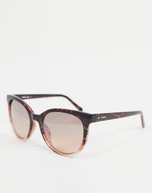 Солнцезащитные очки с леопардовым дизайном 3094/S-Коричневый Fossil