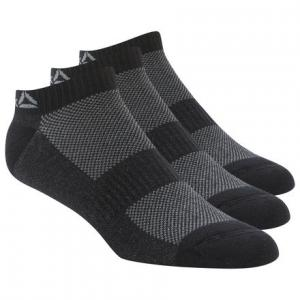 Носки Active Foundation Inside, 3 пары Reebok. Цвет: black / black / black