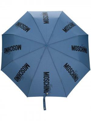 Зонт с логотипом Moschino. Цвет: синий