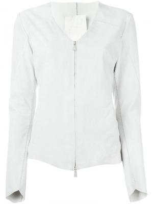 Приталенная куртка на молнии 10Sei0otto. Цвет: телесный