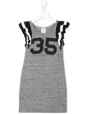 Платье джерси с заплаткой 35 Denim Dungaree. Цвет: серый