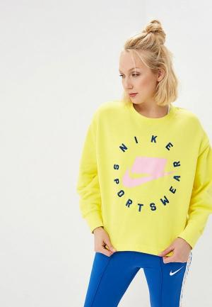 Свитшот Nike SPORTSWEAR NSW WOMENS FRENCH TERRY CREW. Цвет: желтый