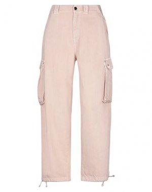 Джинсовые брюки SEMICOUTURE. Цвет: светло-розовый
