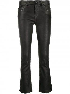 Укороченные расклешенные брюки Amen. Цвет: черный