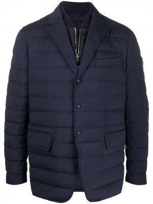 Пиджак-пуховик Moncler. Цвет: синий