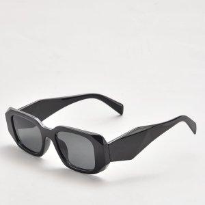 Мужские солнцезащитные очки в геометрической оправе SHEIN. Цвет: темно-серый