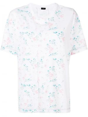 Printed panel short sleeve T-shirt Joseph. Цвет: белый