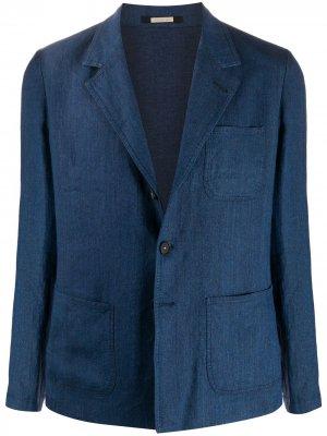 Пиджак свободного кроя Massimo Alba. Цвет: синий
