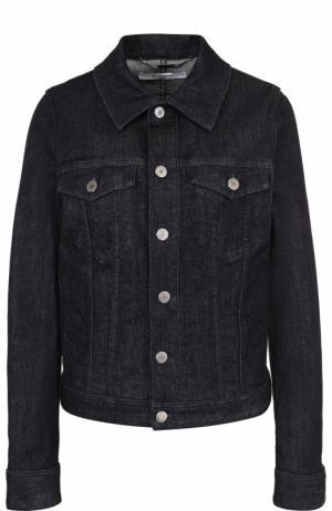 Джинсовая куртка прямого кроя с логотипом бренда на спинке Givenchy. Цвет: синий