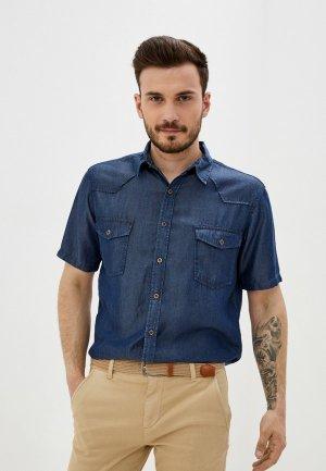 Рубашка джинсовая Velocity. Цвет: синий