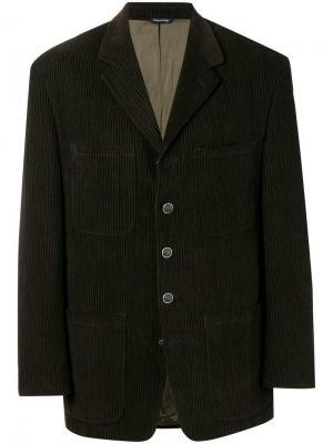 Пиджак в клетку Versace Pre-Owned. Цвет: коричневый