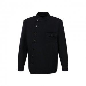 Шерстяной пиджак Giorgio Armani. Цвет: синий
