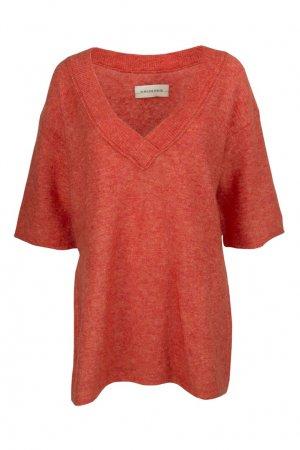 Однотонный пуловер By Malene Birger. Цвет: оранжевый