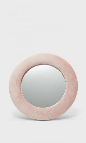 Зеркало В Обтянутой Бархатом Рамке Женская Коллекция Цвет Розового Макияжа 103 Stradivarius. Цвет: цвет розового макияжа