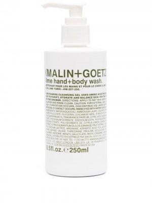 Моющий гель Lime для рук и тела MALIN+GOETZ. Цвет: белый