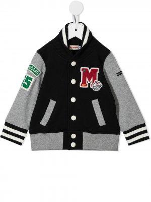 Embroidered letterman jacket Miki House. Цвет: черный
