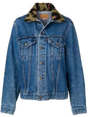 Джинсовая куртка R13. Цвет: синий