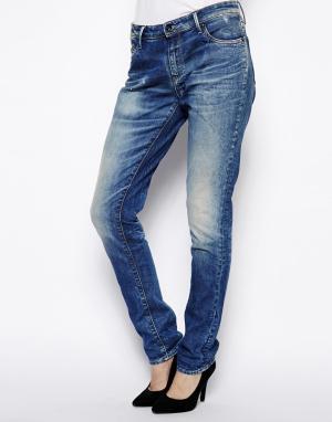Узкие джинсы бойфренда Point Denham. Цвет: умеренный выбеленный