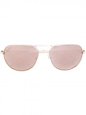 Солнцезащитные очки-авиаторы Must Cartier Eyewear. Цвет: нейтральные цвета