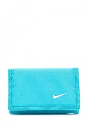 Кошелек Nike BASIC WALLET. Цвет: голубой