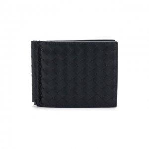 Кожаный зажим для купюр с плетением intrecciato Bottega Veneta. Цвет: синий