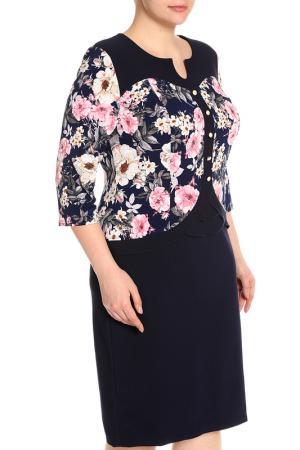 Платье Glamour. Цвет: темно-синий