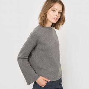 Пуловер укороченный R essentiel. Цвет: серый,синий морской