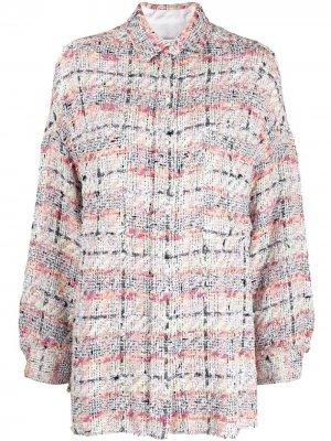 Твидовая куртка-рубашка Mekkie IRO. Цвет: нейтральные цвета