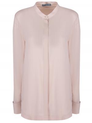 Шелковая блуза A.MCQUEEN. Цвет: бежевый