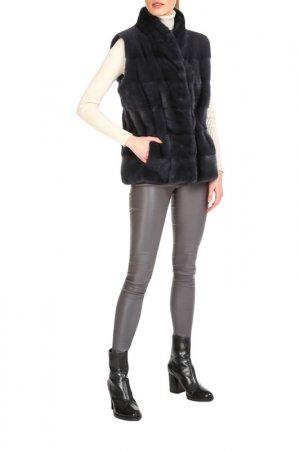 Fur vest Manakas Frankfurt. Цвет: blue