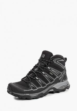 Ботинки трекинговые Salomon X ULTRA MID 2 SPIKES GTX®. Цвет: черный