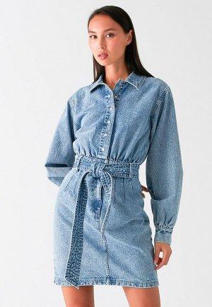 Платье джинсовое Love Republic. Цвет: голубой
