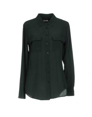 Pубашка EQUIPMENT. Цвет: темно-зеленый
