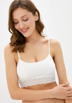Бюстгальтер womensecret women'secret TOP REMOVABLE PAD. Цвет: белый