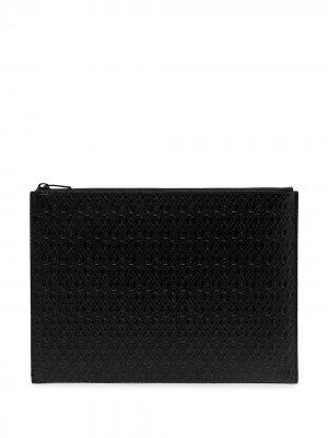 Чехол для планшета на молнии с монограммой Saint Laurent. Цвет: черный
