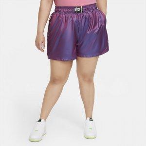 Женские шорты из тканого материала Nike Sportswear (большие размеры) - Пурпурный