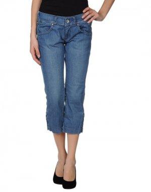 Джинсовые брюки-капри MISS SIXTY. Цвет: синий