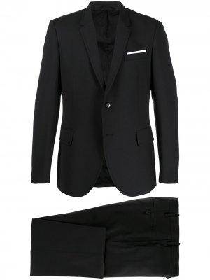 Костюм-двойка с однобортным пиджаком Neil Barrett. Цвет: черный
