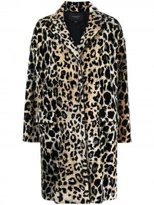 Пальто с леопардовым принтом Giambattista Valli. Цвет: нейтральные цвета